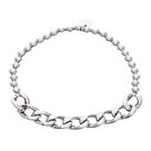 Vicenza Collection Sterling Silver Stretchable Curb Bracelet (Size 7), Silver wt 6.00 Gms.