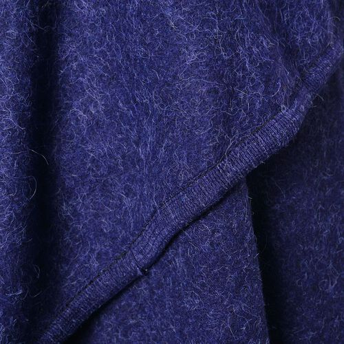 Designer Inspired- Super Soft Navy Colour Waterfall Gilet (Size 150X140 Cm)