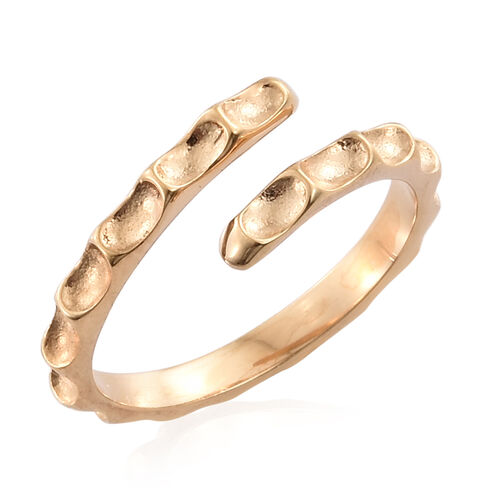 Silver Stacker Ring in Gold Overlay