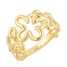LucyQ Splash Ring in Yellow Gold Overlay Sterling Silver 5.04 Gms.