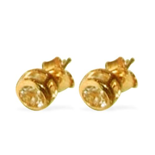 Marropino Morganite (Rnd) Stud Earrings (with Push Back) in 14K Gold Overlay Sterling Silver 1.000 Ct.