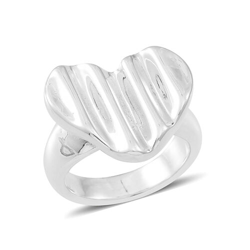 Thai Sterling Silver Heart Ring, Silver wt 4.40 Gms.
