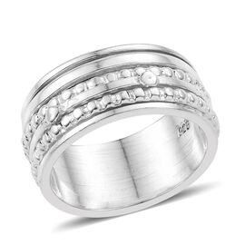 Sterling Silver Spinner Ring, Silver wt 6.83 Gms.