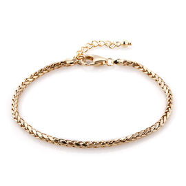 Royal Bali Collection 9K Yellow Gold Spiga Bracelet (Size 7 with 1 inch Extender)