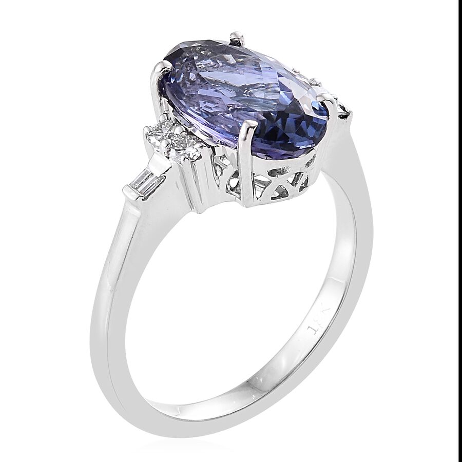 pin diopside tanzanite platinum ring peacock quartz russian over silver and yg sterling