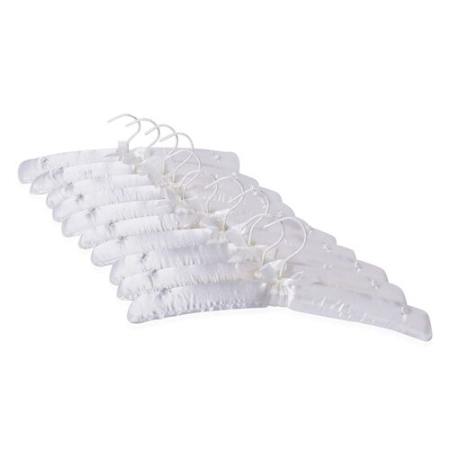 Set of 10 - White Colour Hanger (Size 38 Cm)