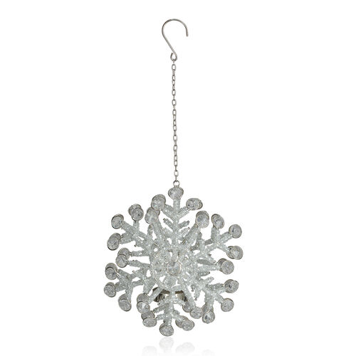 (Option-2)  Sparkle Snowflake Hanging Decorative Light Holder