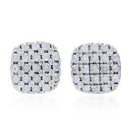 9K White Gold 0.50 Carat Diamond Stud Earrings SGL Certified I3 G H