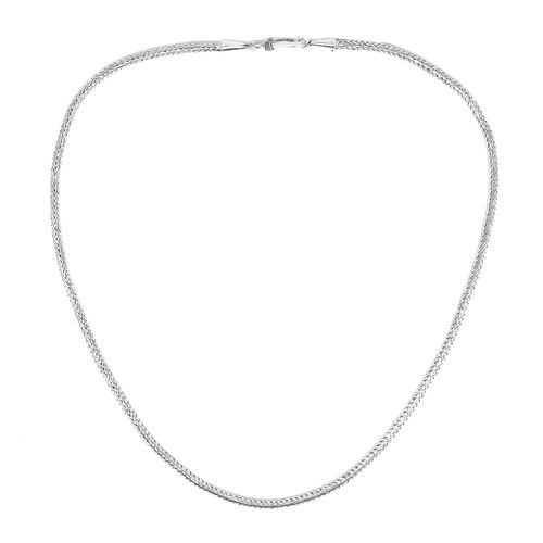 Royal Bali Collection Sterling Silver Tulang Naga Necklace (Size 18), Silver wt 17.45 Gms.