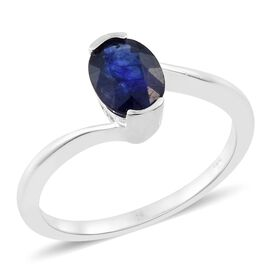 Designer Inspired - Masoala Sapphire (Ovl 8X6 mm) Sterling Silver Solitaire Ring 1.750 Ct.