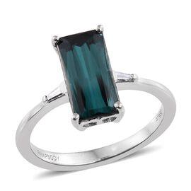 RHAPSODY 950 Platinum 2.60 Ct Monte Belo Indicolite, Diamond Ring