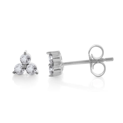 9K White Gold 0.25 Carat Diamond (Rnd) Stud Earrings (with Push Back) SGL Certified (I3 G-H)