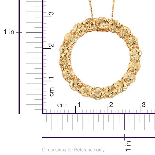 Tanzanian Golden Scapolite (Rnd) Circle of Life Pendant With Chain in 14K Gold Overlay Sterling Silver 2.500 Ct.