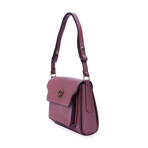 Eve Rose Colour Crossbody Bag with Ammonite (Size 24x20x8 Cm)