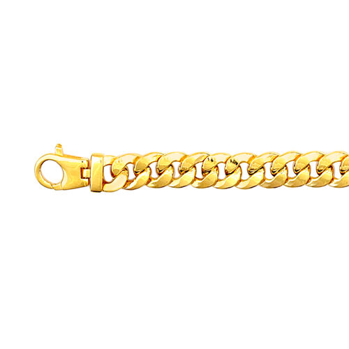 Vicenza Collection 9K Yellow Gold Curb Bracelet (Size 8), Gold wt. 23.43 Gms.