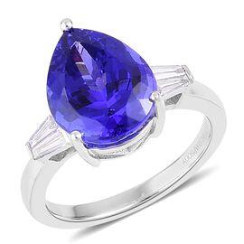 RHAPSODY 950 Platinum 6.75 Carat AAAA Tanzanite, Diamond (VS/E-F) Ring