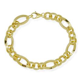 9K Yellow Gold Figaro Bracelet (Size 7.75), Gold wt 8.13 Gms.