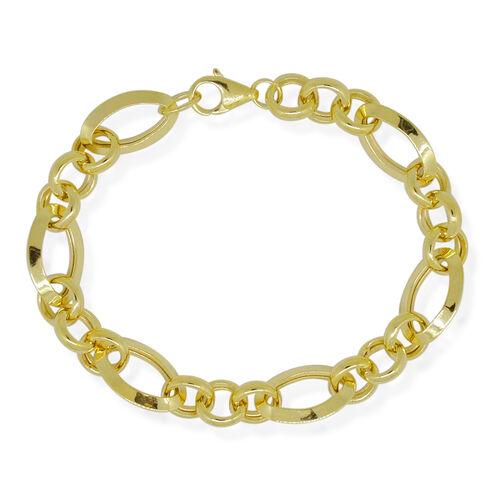 9K Y Gold Figaro Bracelet (Size 7.75), Gold wt 8.13 Gms.