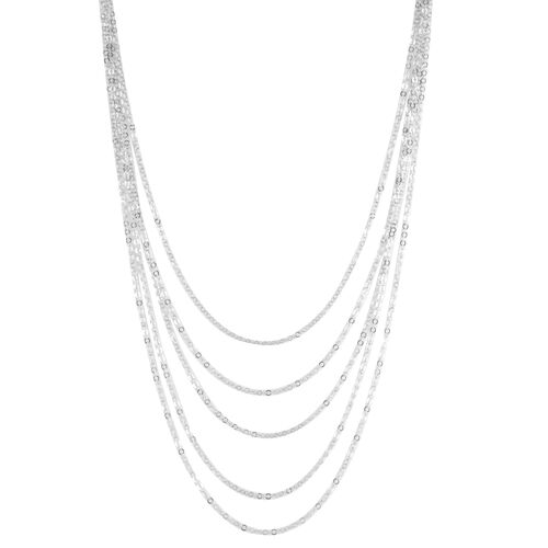 Close Out Deal Rhodium Plated Sterling Silver Chain (Size 22), Silver wt 19.90 Gms.