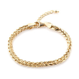 Royal Bali Collection 9K Yellow Gold Spiga Bracelet (Size 7 with 1 inch Extender), Gold wt 4.59 Gms.