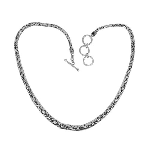 Limited Edition-Royal Bali Collection Sterling Silver Borobudur Necklace (Size 20 with 1 inch Extender) with Toggle Lock, Silver wt. 78.27 Gms.