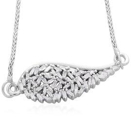 Fire Cracker Diamond (Bgt) Adjustable Bracelet (Size 6.5 to 8) in Platinum Overlay Sterling Silver 0.250 Ct.
