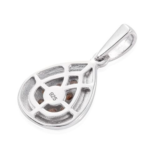 Brazilian Andalusite (Rnd) Pendant in Platinum Overlay Sterling Silver 0.500 Ct.