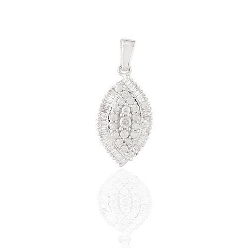 9K W Gold SGL Certified Diamond (Rnd) (I3/G-H) Pendant 0.500 Ct.