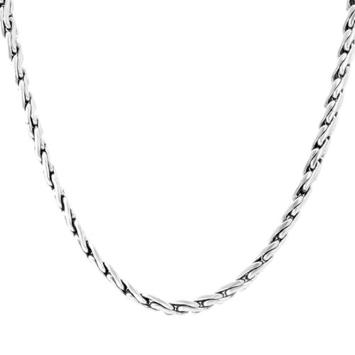 Designer Inspired Sterling Silver Necklace (Size 20), Silver wt 73.10 Gms.
