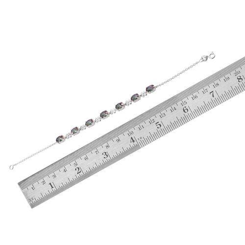 Northern Lights Mystic Topaz (Ovl) Bracelet (Size 7.5) in Sterling Silver 6.000 Ct.