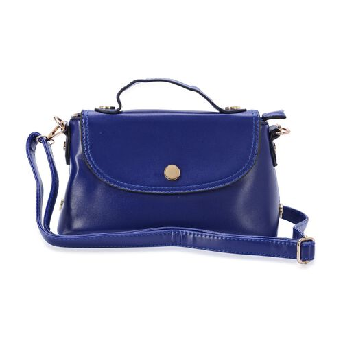 Navy Blue Colour Crossbody Bag with External Zipper Pocket and Adjustable and Removable Shoulder Strap (Size 24x14x9 Cm)