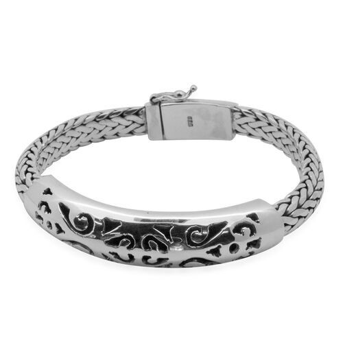 Royal Bali Collection Sterling Silver Bracelet (Size 7.75), Silver wt 62.16 Gms.
