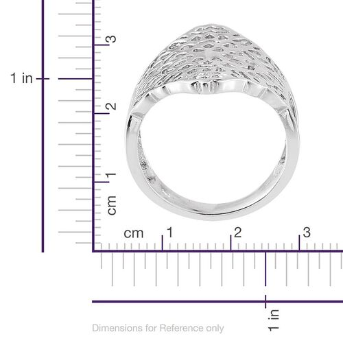 Platinum Overlay Sterling Silver Ring, Silver wt 6.70 Gms.