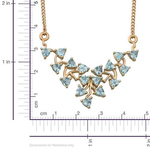 Paraibe Apatite (Trl) Necklace (Size 18) in 14K Gold Overlay Sterling Silver 4.250 Ct.