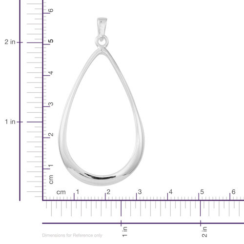 JCK Vegas Collection Designer Inspired Sterling Silver Drop Pendant, Silver wt 7.50 Gms.