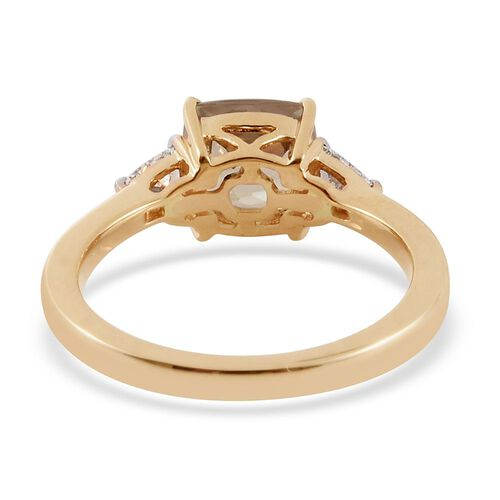 ILIANA 18K Y Gold Natural Turkizite (Cush 1.50 Ct), Diamond (SI/G-H) Ring 1.750 Ct.