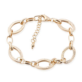 Royal Bali Collection 9K Yellow Gold Diamond Cut Oval Link Bracelet (Size 7 with 1 inch Extender), Gold wt 5.07 Gms.