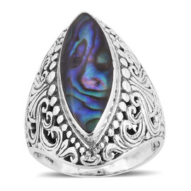 Royal Bali Collection Abalone Shell Ring in Sterling Silver, Silver wt 7.60 Gms.