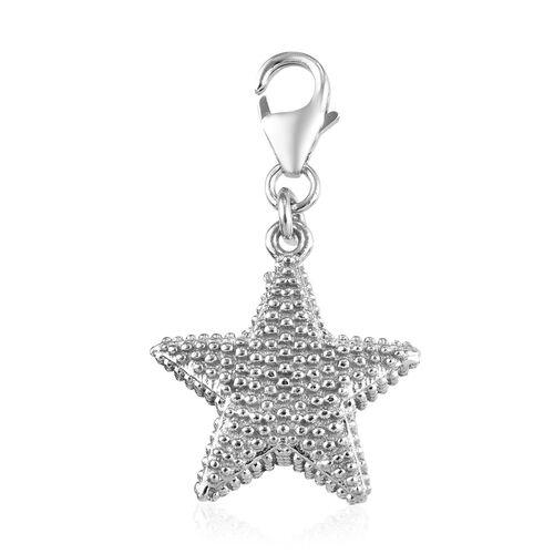 Platinum Overlay Sterling Silver Star Pendant