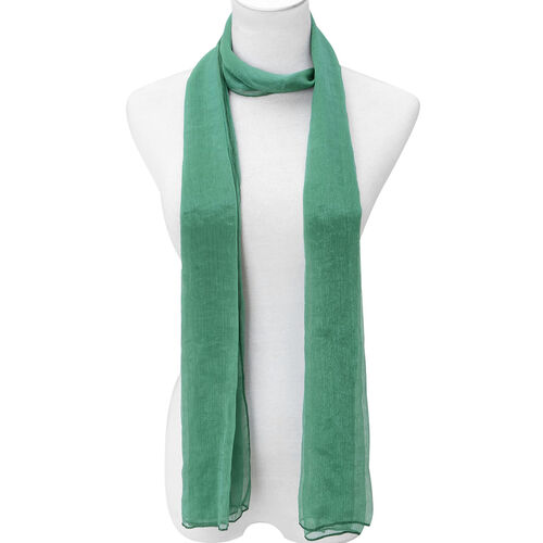 Set of 2 - Designer Inspired Green and Pink Colour Scarf (Size 175x60 Cm)