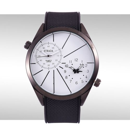 STRADA Dual Time Watch - White