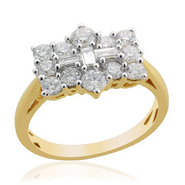 ILIANA 18K Y Gold IGI Certified Diamond (SI / H) Ring 1.000 Ct.