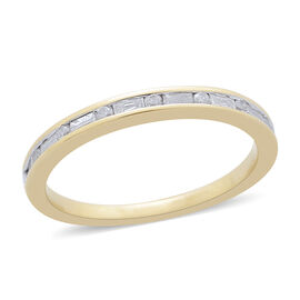 9K Yellow Gold 0.25 Carat Diamond Sleek Half Eternity Ring SGL Certified I3 G-H