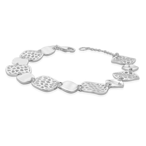 RACHEL GALLEY Sterling Silver Wave Full Bracelet (Size 8), Silver wt 18.75 Gms.