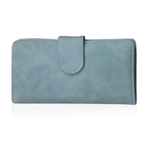 One Time Deal - Pale Blue Colour Multi Compartment Ladies Wallet (Size 18.5x9.5x3.5cm)