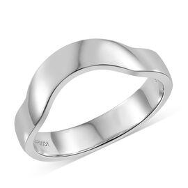 RHAPSODY 950 Platinum Shaped Band Ring, Platinum wt 6.29 Gms.