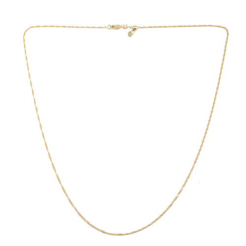 Close Out Deal 14K Gold Overlay Sterling Silver Twist Chain (Size 24 with Adjustable), Silver wt 3.00 Gms.