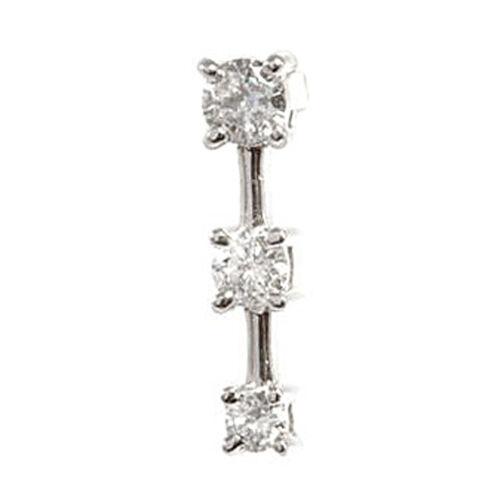 Close Out Deals One Off 14K W Gold Diamond (Rnd) Pendant 0.500 Ct.