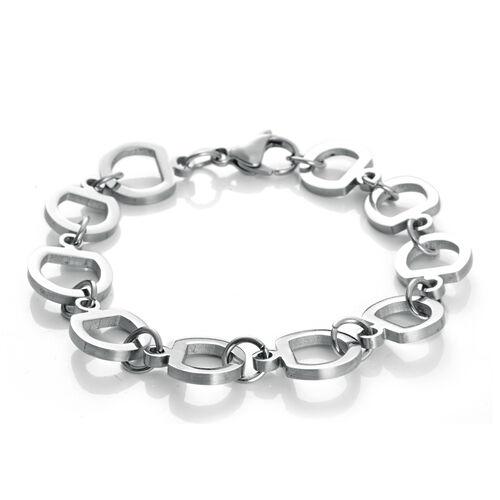Designer Inspired Snaffle Bracelet (Size 7.5) in Stainless Steel