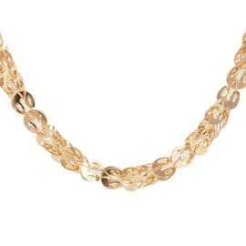 Limited Edition - 9K Y Gold Sparkle Necklace (Size 20), Gold wt 10.50 Gms.